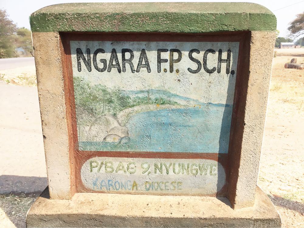Bord van de Ngara Full Primary School