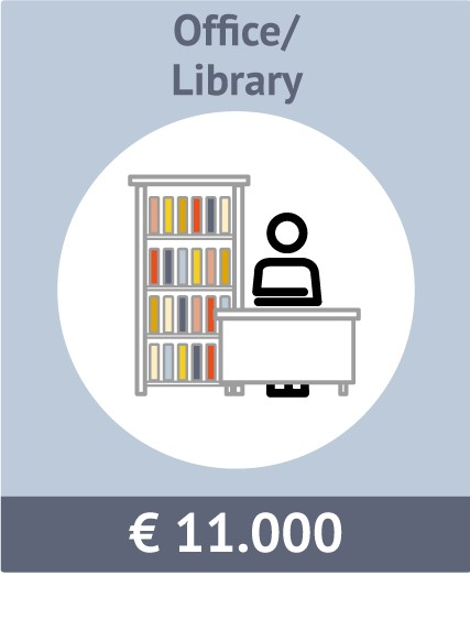 Sponsor option for a office / library. Total costs € 11.000